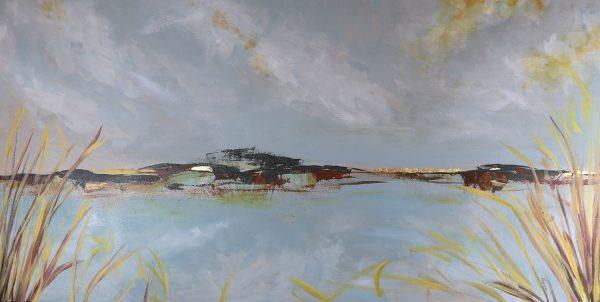 Nestucca Bay - Serene Original Acrylic Painting