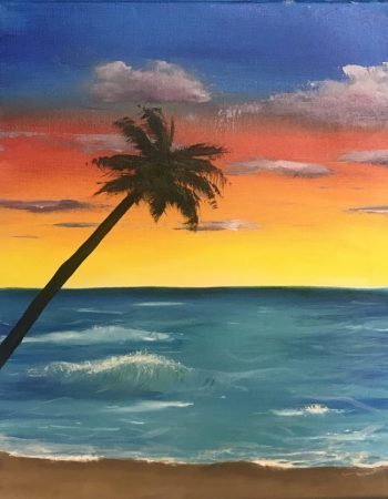 Live Online Painting Party - Caribbean Sunset