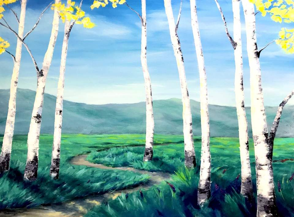 Aspen Tree Live Online Painting Class