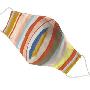 Striped Lyocell 'Tote' Mask
