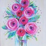 Summer Flower Jar Online Paint Party Paintings