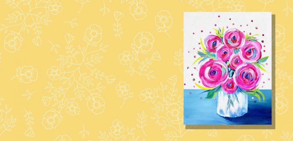 Sunny Summer Flower Jar Paint Party